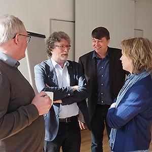 Mitglieder der AdB-Kommission Erwachsenenbildung im Gespräch mit der Leiterin der Niedersächsische Landeszentrale für politische Bildung