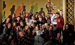 Teilnehmende der Jugendbegegnung in der Jugendbildungsstätte Kurt Löwenstein
