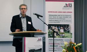 Prof. Dr. Wolfgang Kruse (Fernuni Hagen) während der AdB-Jahrestagung
