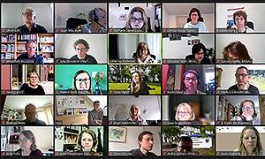 Mitglieder der Kommission während der Online-Sitzung