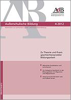 Zeitschrift Außerschulische Bildung 4-2012