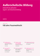 """Zeitschrift """"Außerschulische Bildung"""" Ausgabe 4-2018: 100 Jahre Frauenwahlrecht"""