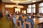 Beim Town-Hall-Meeting im Rathaus Berlin Charlottenburg