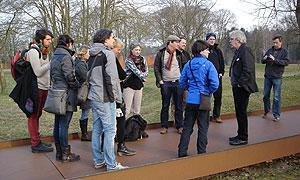 Jugendbildungsreferentinnen und -referenten auf Exkursion zur Gedenkstätte Esterwegen