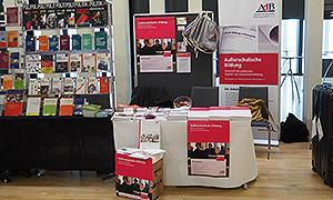 Der Stand des AdB während des 14. Bundeskongresses Politische Bildung in Leipzig