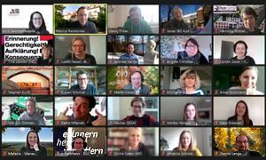 Online-Sitzung der Kommission Europäische und Internationale Bildungsarbeit