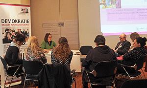 """Beim Workshop """"Lernen Kinder Demokratie? Kinder machen Demokratie!"""" stellte der AdB die politische Bildung mit Kindern in den Mittelpunkt"""