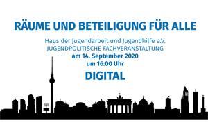 Räume und Beteiligung für alle - Einladung zur Jugendpolitischen Online-Fachveranstaltung des HdJ e.V.