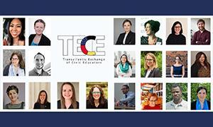Teilnehmende für das Transatlantic Exchange of Civic Educators Fellowship-Programm (TECE)
