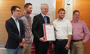 Vertreter des Europahaus Marienberg mit Ulrich Weinbrenner, Ministerialdirigent im BMI (Mitte)