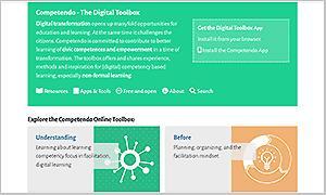 Competendo Digital Toolbox - Screenshot von der Startseite
