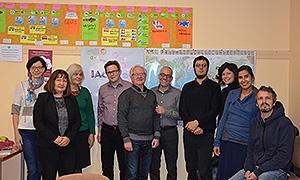 Teilnehmer*innen des ersten Projekttreffens in Riga