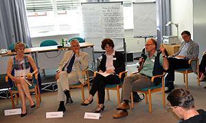 Abschlussdiskussion mit Dr. Helle Becker, Thomas Thomer, Ina Bielenberg, Prof. Dr. Achim Schröder